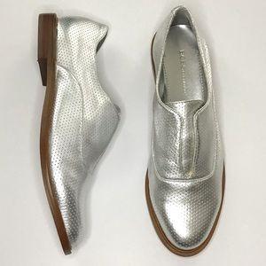 BCBGeneration Silver Brisk Oxford Loafer Flats